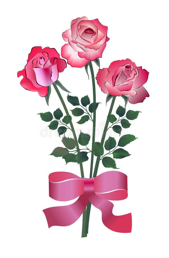Free Bouquet Of Three Roses Royalty Free Stock Images - 28154329