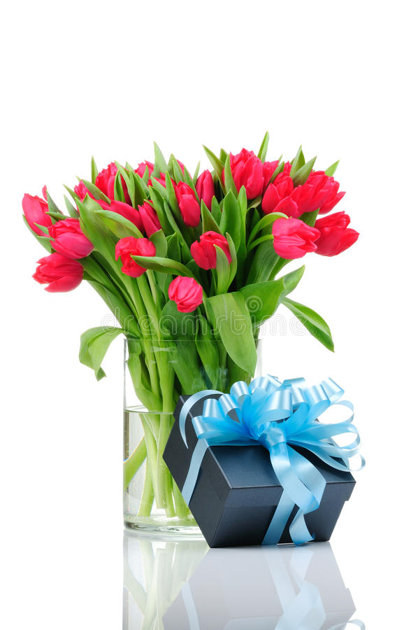 Free Bouquet Of Tulips In The Vase Stock Image - 12547521
