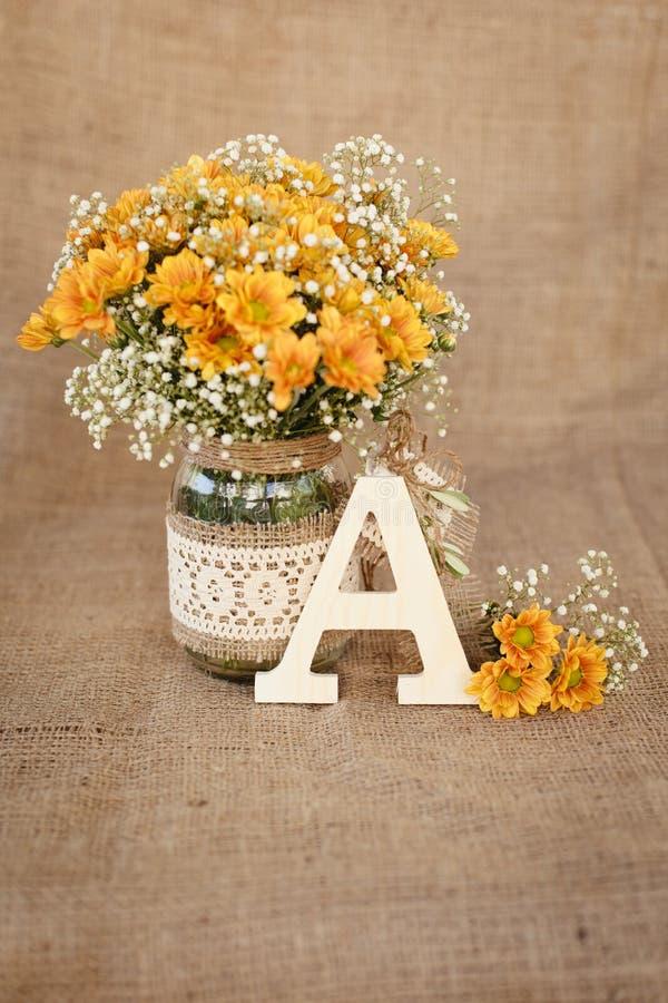 Bouquet of orange daisy flowers royalty free stock image