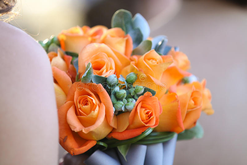 Download Bouquet of orange flowers stock photo. Image of bouquet - 28069540