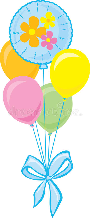 Bouquet of Party Balloons stock illustration