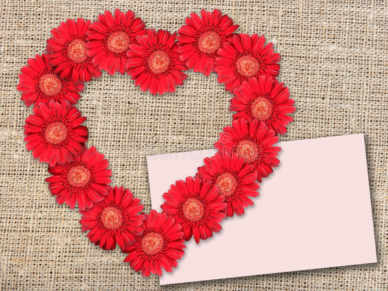 Download Bouquet Of Red Flowers As Heart-form Stock Photo - Image: 14855700