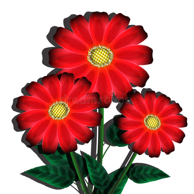 Download Bouquet of red flowers stock vector. Image of flower - 30739072