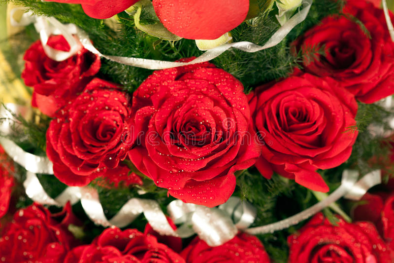 Bouquet Of Red Rose Flowers Stock Image - Image of celebration ...