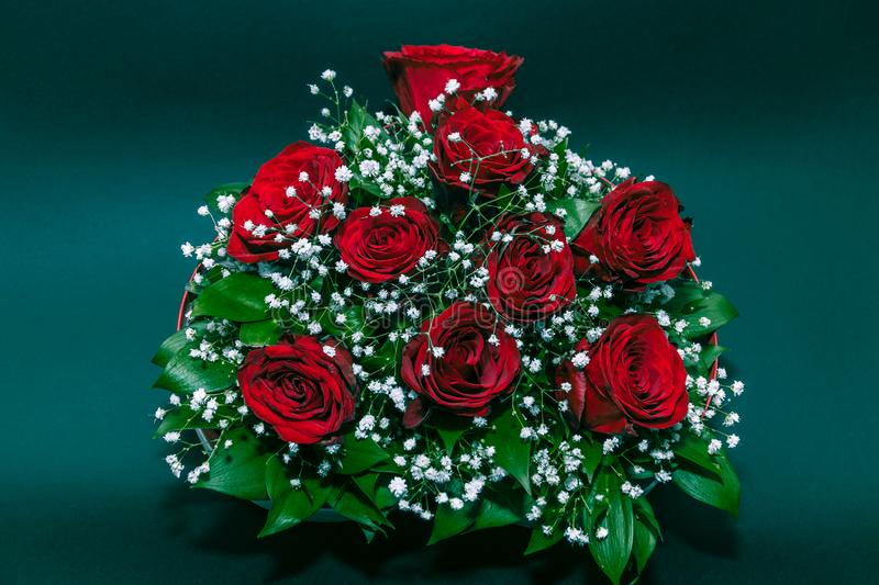 Bouquet of Red Roses retro colored royalty free stock photos