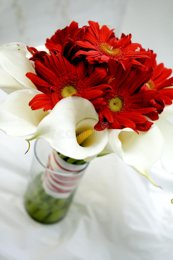 Bouquet in Red and White 2 stock photos