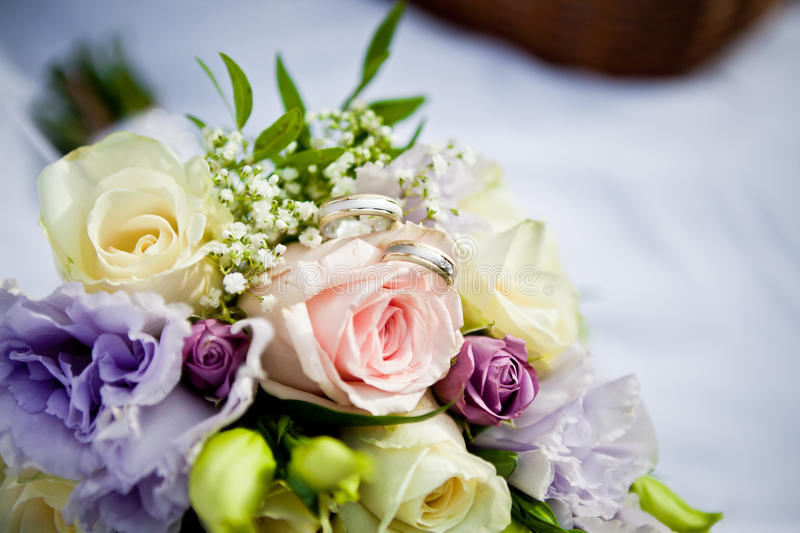 Download Bouquet with rings stock image. Image of beauty, celebration - 27325307