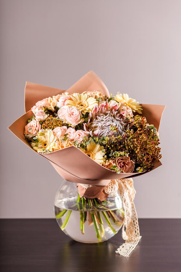 Bouquet romantique du ` s d'auteur photo libre de droits