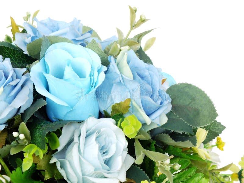Bouquet rose artificiel bleu de fleur image libre de droits