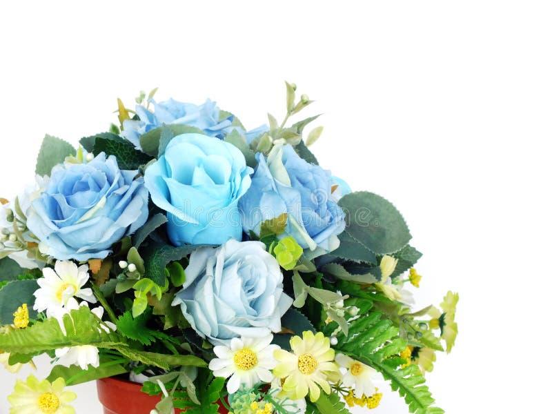 Bouquet rose artificiel bleu de fleur photographie stock