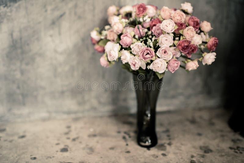 Bouquet rose de vintage romantique images stock
