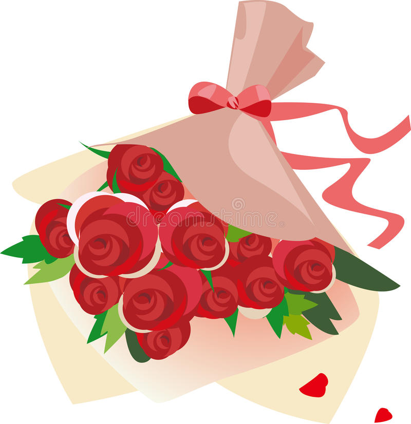 A bouquet of roses stock illustration