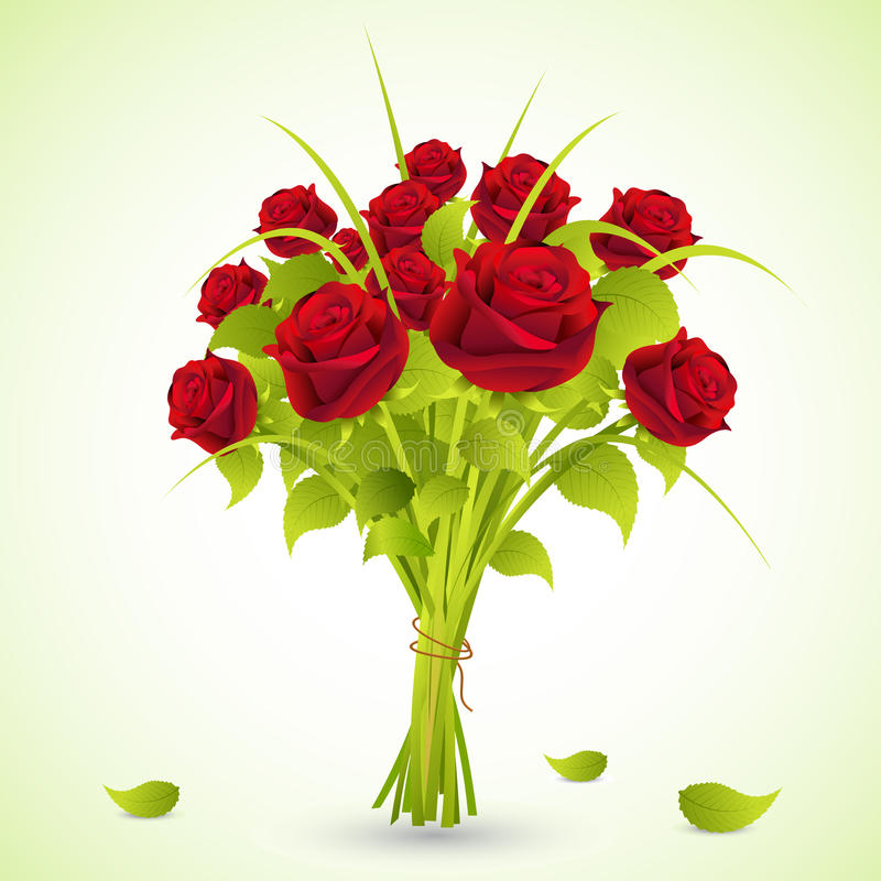 Bouquet of Roses stock illustration