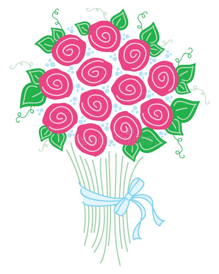 Bouquet of Roses. A graphic illustration of a bouquet of roses