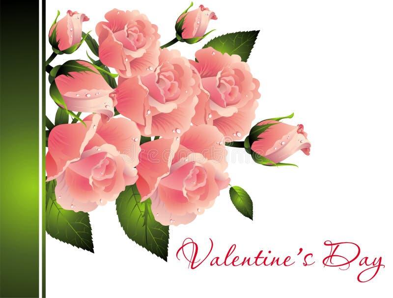 Calligraphy Valentine Hearts Clip Art Stock Illustration