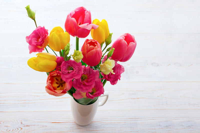 Bouquet of spring flower tulips royalty free stock image