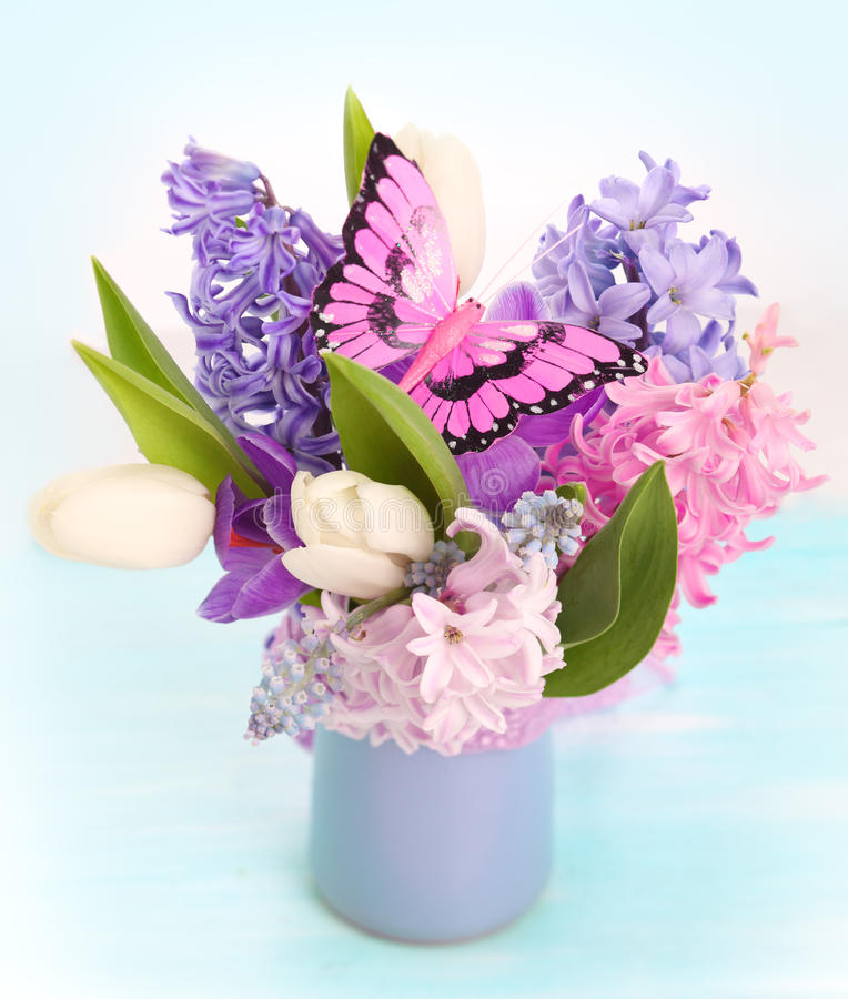 Bouquet spring flowers stock photo. Image of beauty, mothers - 18590734