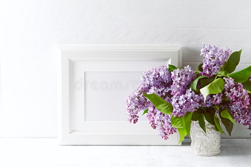 Bouquet of Spring Lilac Flowers royalty free stock image