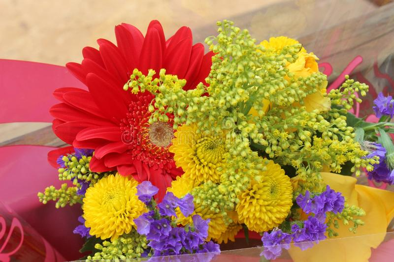 A bouquet of Summer flowers stock images