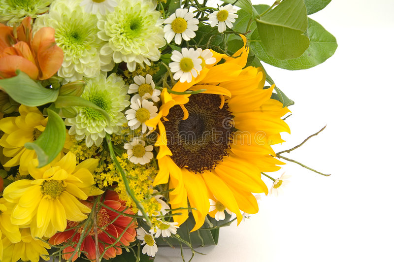 Bouquet with sunflower