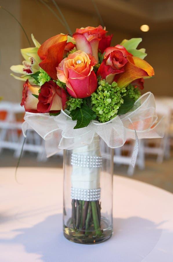 Bouquet tropical de mariage photo libre de droits