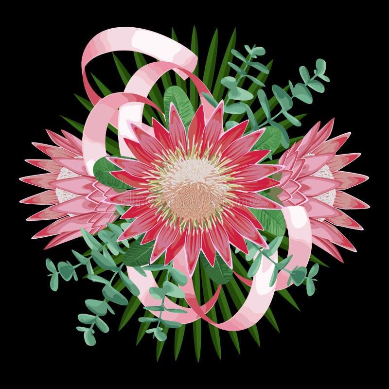 Bouquet tropical de mariage illustration stock