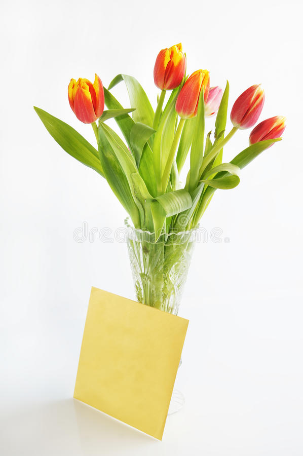 Download Bouquet Of Tulips In The Crystal Vase Stock Images - Image: 23787044