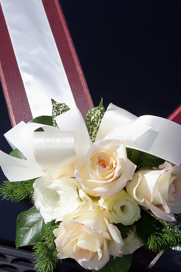 Download Bouquet On A Wedding Car. Stock Photos - Image: 2507013