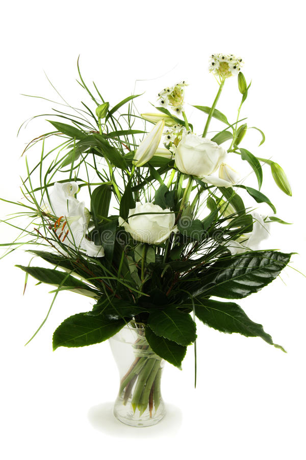 Download Bouquet Of White Roses And Lily Stock Image - Image: 28494507