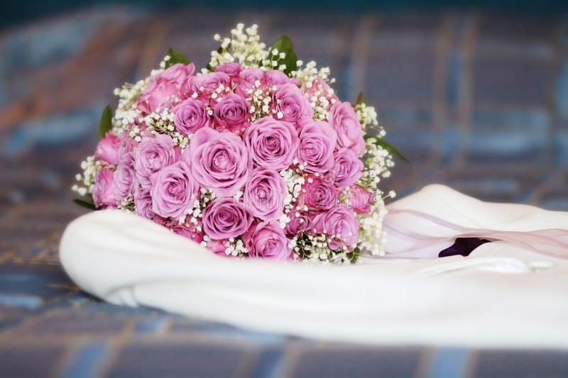 Bouquet on White Suit royalty free stock image