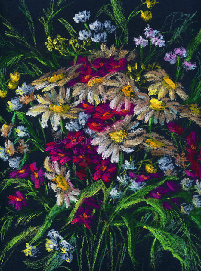 Download Bouquet of wildflowers stock illustration. Illustration of valentines - 25116537