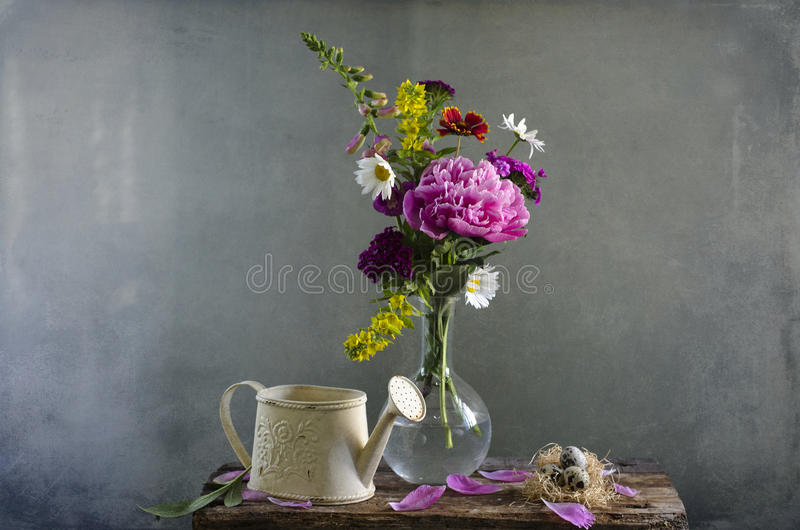 Bouquet of wildflowers royalty free stock photos