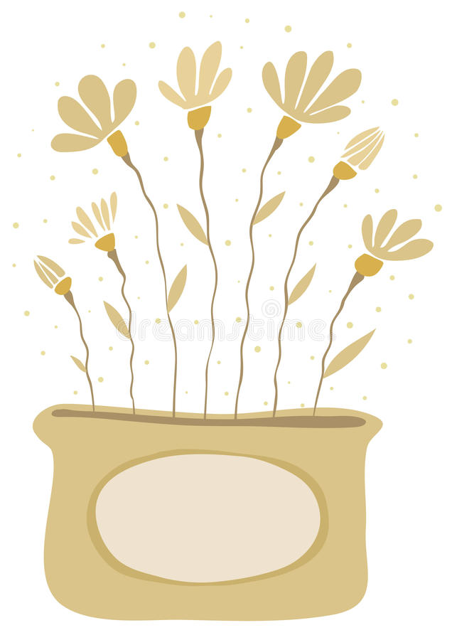 Download Bouquet Of Yellow Flowers In A Vase Stock Vector - Illustration: 9878812