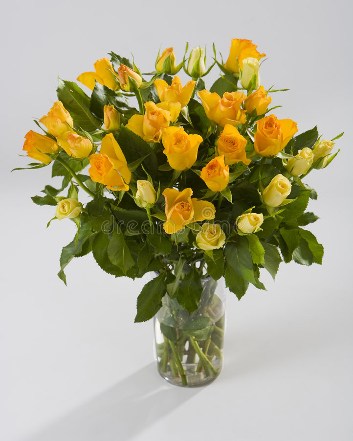 Download Bouquet of yellow roses stock image. Image of rose, posy - 8836555