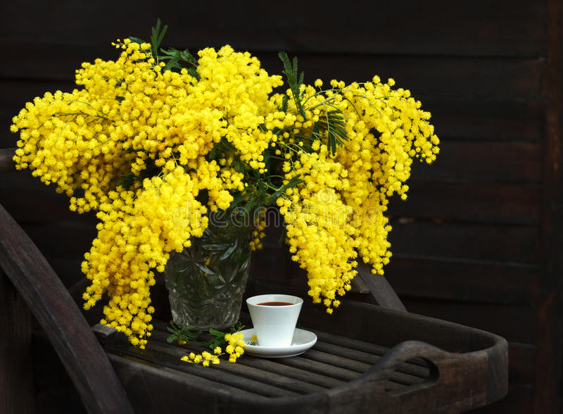 A bouquet of yellow spring flowers royalty free stock photos