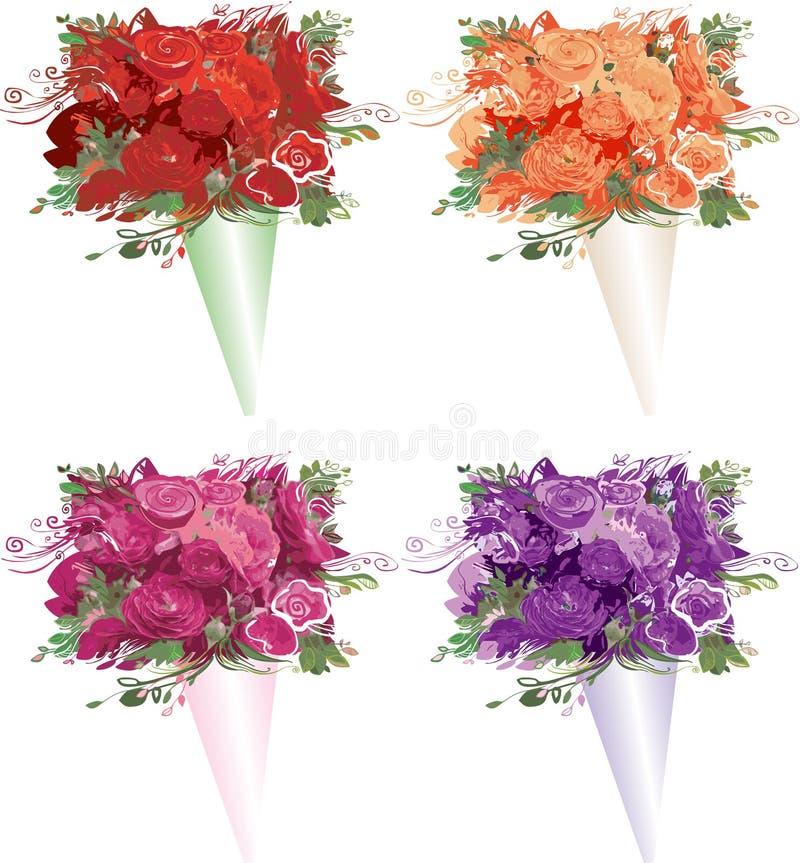 Bouquets vector illustration