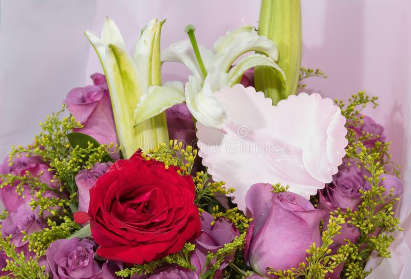 Bouquets with cards stock image. Image of send, love - 113647939