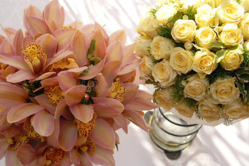 Bouquets de mariage photos stock