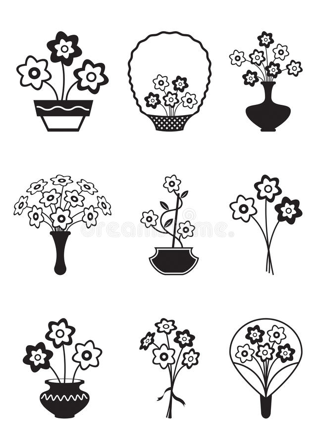 Download Bouquets of flowers stock vector. Image of blossom, naive - 27326593