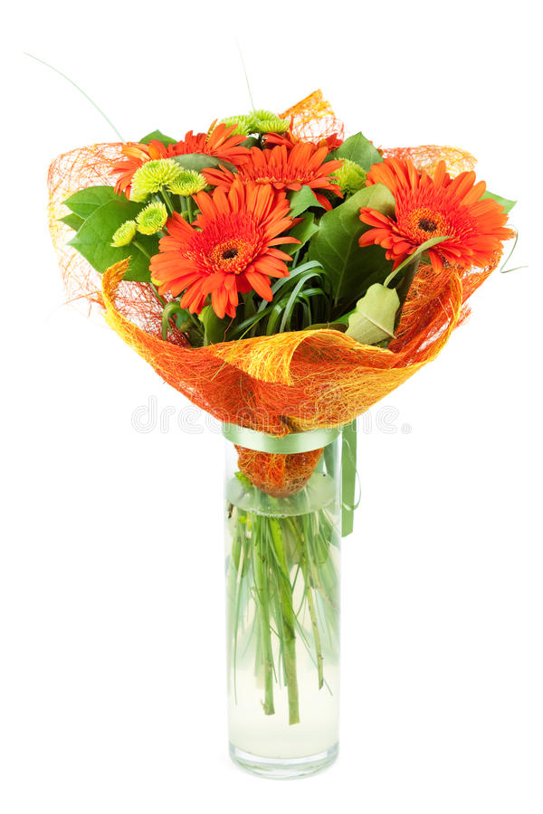 Bouquiet orange de gerbera image libre de droits