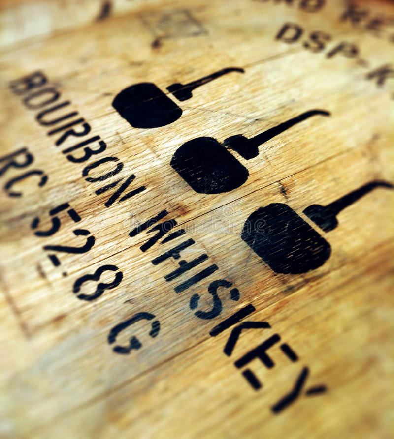 Bourbon-Faß stockbild