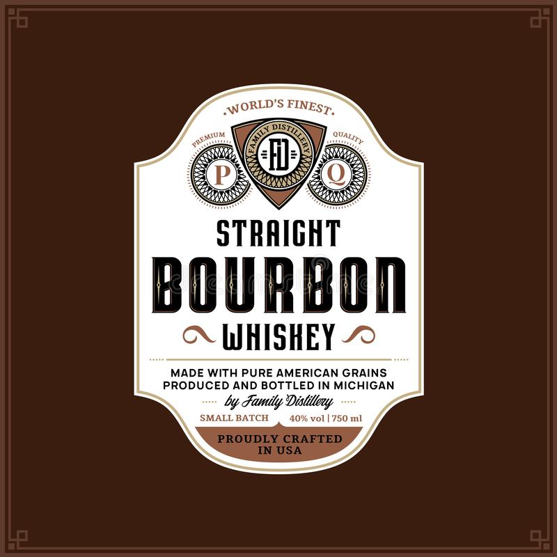 Free Bourbon Label Template Royalty Free Stock Photos - 134531548