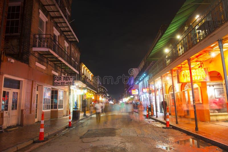 Bourbon-Straße im französischen Viertel, New Orleans stockbild