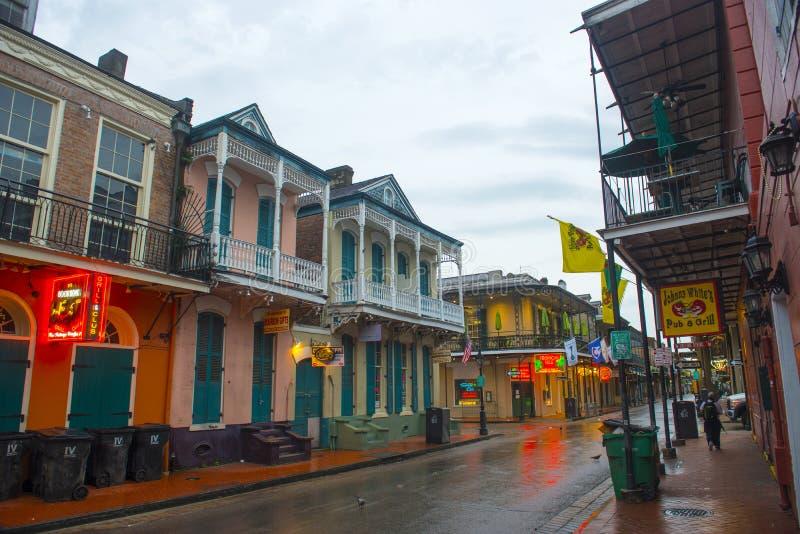 Bourbon-Straße im französischen Viertel, New Orleans lizenzfreies stockbild