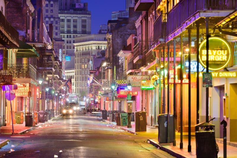Bourbon-Straße New Orleans lizenzfreies stockfoto