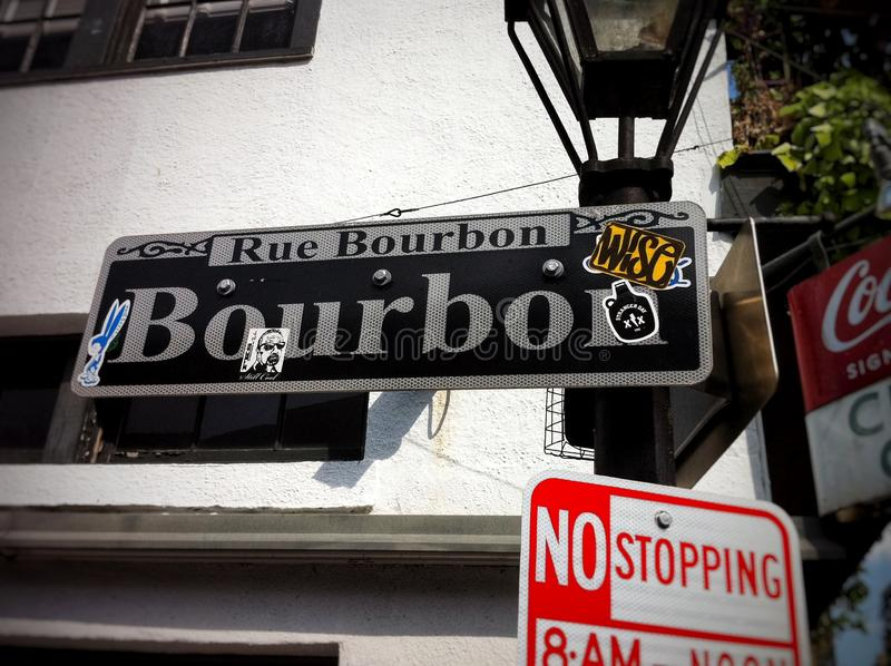 Bourbon-Straße stockbild