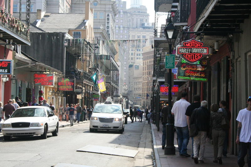 Bourbon Street stock image