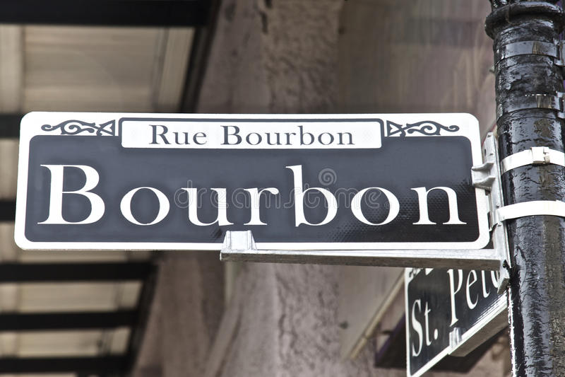 Bourbon Street, New Orleans stock photography