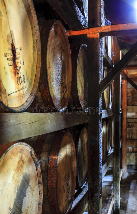 Free Bourbon Warehouse Royalty Free Stock Image - 37764676