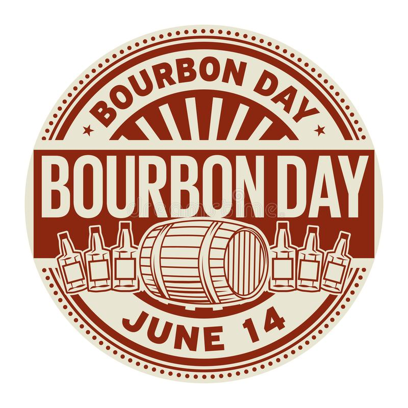 Bourbondag, Juni 14 stock illustrationer
